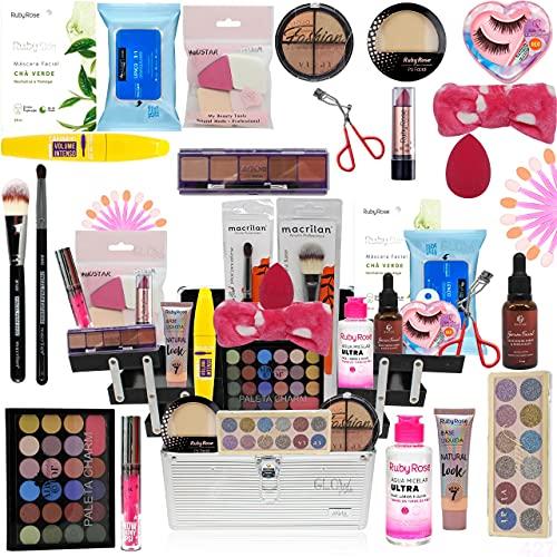 Maleta De Maquiagem Completa Com Kit Maquiagem Ruby Rose Top