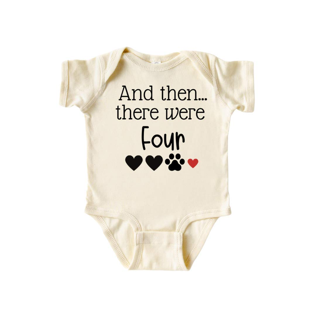 Then there were Four Dog Max 51% OFF Minneapolis Mall Baby Pre Onesie Announcement Surprise