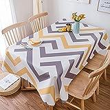 LIUJIU Mantel lavable de poliéster perfecto para mesas de buffet, fiestas, cenas de vacaciones, 100 x 140 cm