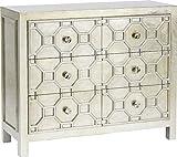 Kare Design Kommode Alhambra, TV Lowboard mit 4 Schubladen, Wohnzimmer Sideboard Silber (H/B/T) 61x124x38cm