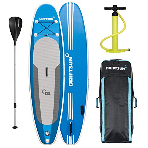 Driftsun Paddleboard 10ft SUP, with Travel Backpack, Paddle, Leash