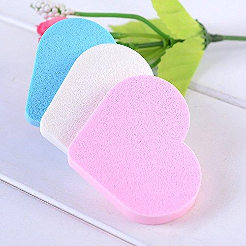3Pcs Pro Beauty Sponge Makeup Foundation Puff Brush Maquillage Fondation Flawless Gouttelettes Éponge à Blender éponge maquillage, Blush Yeux Visage Poudre Crème sponges (A)