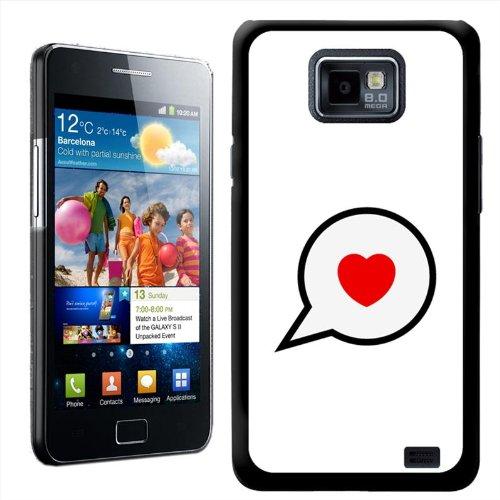 Fancy A Snuggle beschermhoes voor Samsung Galaxy S2 i9100 met motief Vintage Pop Culture Style Speak Love