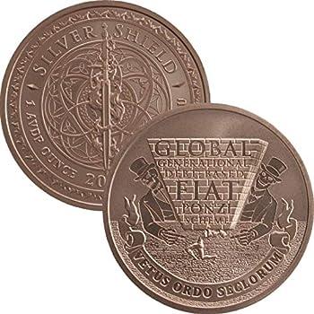 2019 Mini Mintage 1 oz .999 Pure Copper Round/Challenge Coin  #117 Global Ponzi