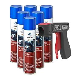 AUPROTEC Rostwandler Roststopp Grundierung Rednox Anti Rostspray Rost Stop Schutz Spray 6X 400ml + 1x Original Pistolengriff
