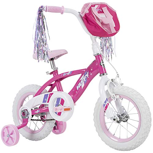 Huffy Glimmer Girls Bike, Fast Assembly Quick Connect, 12', Pink