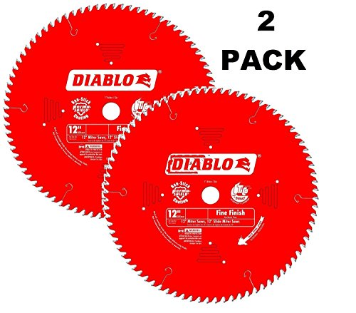 2 PACK Diablo D1260X 12-Inch by 60t 1in Arbor Combination Saw Blade