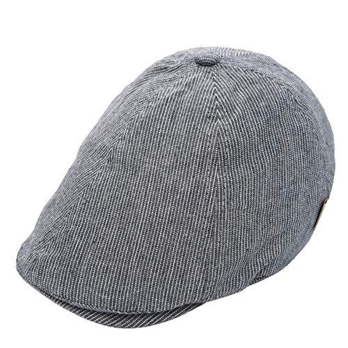 Foruhoo Kinder Schiebermütze für Jungen, Baby Baskenmütze Kapppe Hüte Cap (Blau, 54cm / 4-7 Jahre)