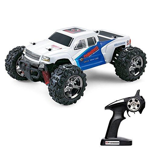 FSTgo RC Car Rock Crawler 32MPH Fast Truck Off Road 4WD 1:24 RTR Racing Monster Truck 2.4G Radio Remote Control Car (BG1510C White)