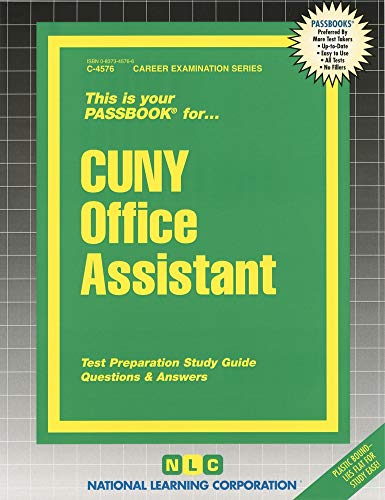 CUNY Office Assistant: Passbooks Study Guide (Career Examination Series)