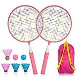 YWSS Set di Racchette da Badminton Bambini 1 Paio, Set da Badminton per Bambini, Set di Racchette da Tennis da Badminton,