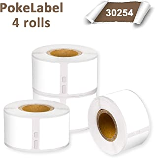 """Pokelabel Compatible for DYMO 30254 Clear Address Labels,Used for LabelWriter 450 Turbo, 4XL, 400, 1-1/8"""" x 3-1/2"""" (28mm x 89mm), 130 Labels per Roll ( 4 Rolls)"""