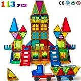 Magblock 113 PCS Magnetic Blocks, Magnetic Tiles Building Blocks for Kids...
