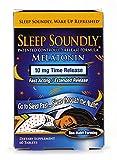 Sleep Soundly Melatonin 10mg, Fast Acting, Extended Release Sleep Formula, 60 servings