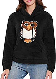 Bigbarry Womens Contrast Color Autumn Winter Casual Long Sleeve Hooded Pullover Sweatshirt