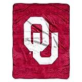 NCAA Oklahoma Sooners Grunge Micro Raschel Throw, 46' x 60'
