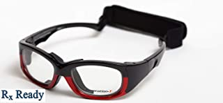 Generation-Y Protective Sports Goggles (ASTM Certified) (Small, Black/Red)