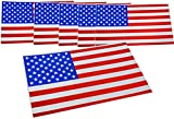 Small American USA Flag Magnet Decal , for car or Refrigerator 3.5 inch x 2 Inch   United States US Flag (6 Pack)