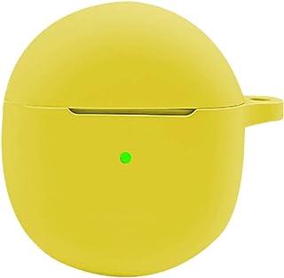Auleset Fallande tvättbar dammtät silikon hörlurar kompatibel med OnePlus knoppar – gul