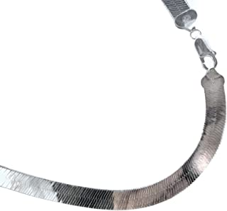 8.7mm Herringbone Sterling Silver Necklace. Italian .925 Chain. 16,18,20,22,24,30 inches.