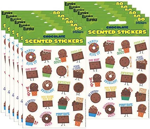 Eureka Time sale 12 PK Scented Chocolate Stickers High quality