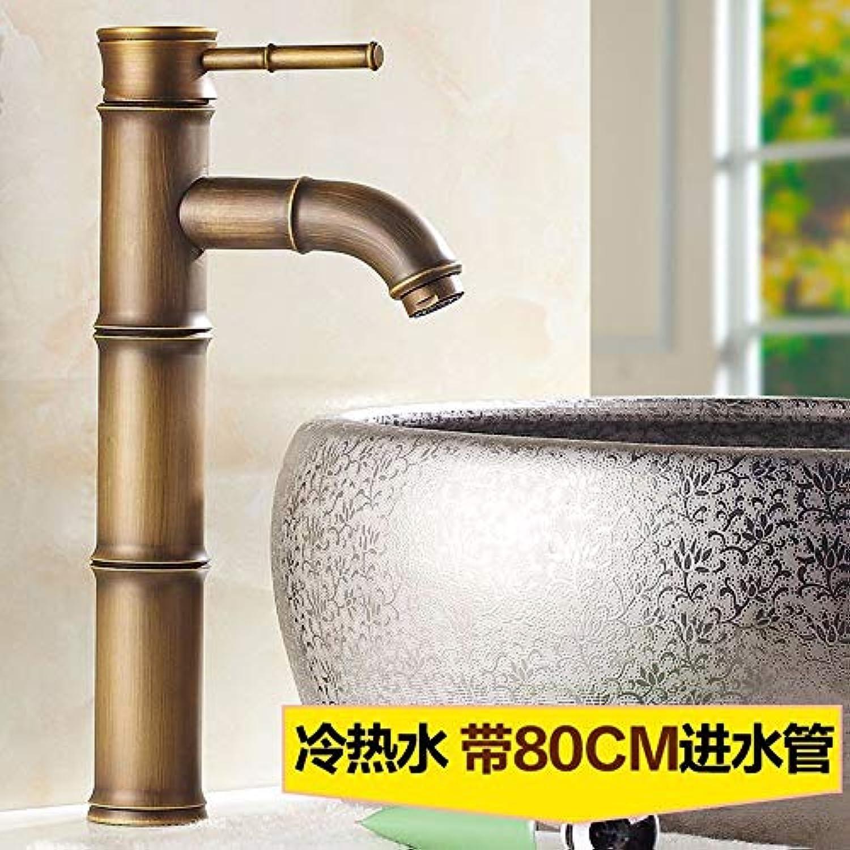 CFHJN Home Retro-Stil Kupfer im europischen Stil Hei und kalt Einloch-Waschbecken Wasserhahn