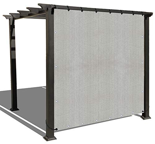 Alion Home Sun Shade Privacy Panel with Grommets and Hems on 4 Sides for Patio, Awning, Window, Pergola or Gazebo - Smoke Tan (8' x 4')