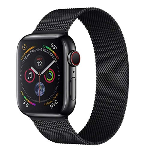 Apple Watch Stainless Steel Magnetic Absorption Strap Metal Mesh Quick Release Wristband Sport Loop Compatible for Apple Watch Band 40mm/42mm Series 6/SE/5/4/3/2/1