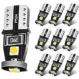 SEALIGHT T10 LED ホワイト ナンバー灯 ポジションランプ ルームランプ高輝度 キャンセラー内蔵 3030LEDチップ搭載 50000時間寿命 車検対応 12V 2W 2年保証 (10個入り)