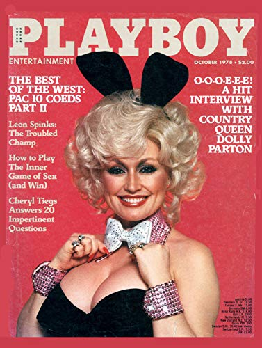 """Nxsbns Playboy Best of West - Magazine Cover Plaque Home Decor Metal Tin Sign 12"""" X 8"""""""