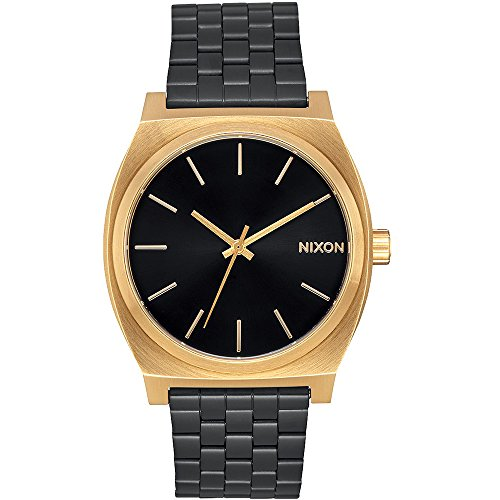 Nixon A045-1604-00 - Reloj para Mujer Time Teller 37 mm, Oro/Negro