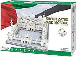 CubicFun 3D Sheikh Zayed Grand Mosque Puzzles Architecture Model Building Kits Toys & Souvenir Gift for Adults