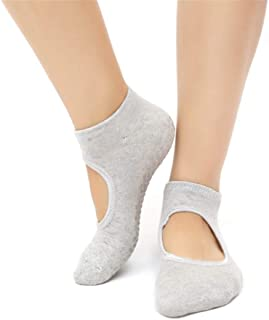 SGJFZD 3pairs/Pack Winter Terry Yoga Socks Female Anti-Slip Halter Socks Yoga Socks Sports Socks Professional Yoga Socks, Color Randomly Sent (Color : Random)