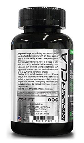 Myo-Pure CLA 2000 mg 90 Softgels - Clearance Sale   Weight Loss   Fat Burner   Lean Muscle   Energy   Endurance   Recovery   Conjugated Linoleic Acid