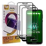Guran - Protector de pantalla de cristal templado para Motorola Moto G7 Power (cobertura completa, protección ultrafina HD, dureza 9H), color negro