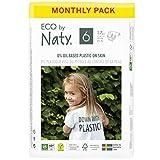 Eco by Naty, Taglia 6, 102 pannolini, +16kg, fornitura di UN MESE, Pannolino eco premium a base vegetale con lo 0% di plastica sulla pelle