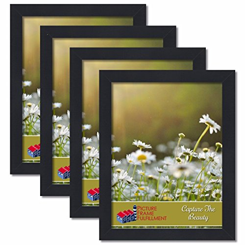 PictureFrameFactoryOutlet 16 by 20-inch Picture Frame 4-Piece Set, Smooth Finish, 1.25 Inch Wide, Black