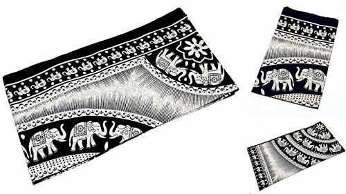 Unbekannt Grande Ambe Premium sábana sábana cama de ropa de cama 100% algodón 210x 230cm negro beige elefante Ornament elegante nº 5