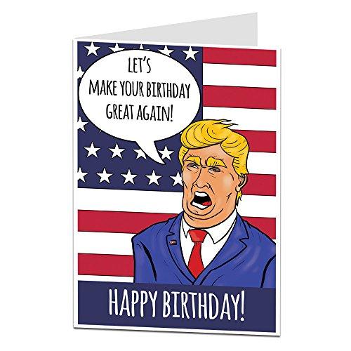 Funny Geburtstagskarte perfekt für Herren und Frauen Innen blanko, um mehr Persönliche Nachricht