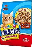 (まとめ買い)日本ペットフード ミオ おいしくって毛玉対応 かつお味 2.3kg 【×4】