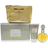 Royal Marina Diamond Gift Set by Princesse Marina de Bourbon | Fragrance for Women | Fruity, Oriental, and Musky Scent | 3.4 oz Eau de Parfum Spray, 5 oz Body Lotion, and Pouch