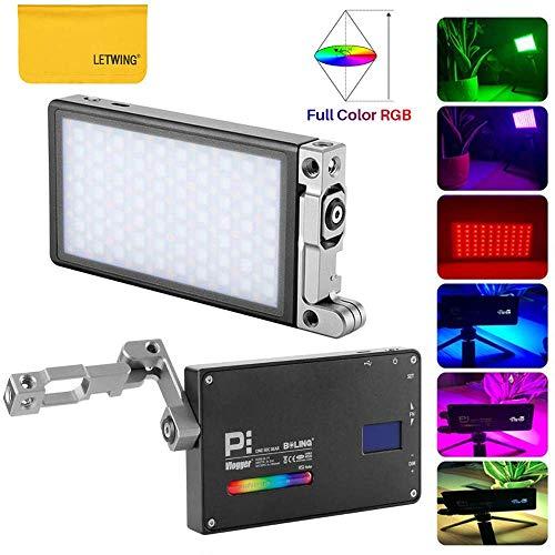 Boling BL-P1 12W RGB Led Video Luce 2500k-8500k Mini Dimensioni Tascabili Sulla Luce Della Fotocamera con 9 Situazione Applicabile, 360 °Sistema di Supporto Regolabile con Integrata Batteria