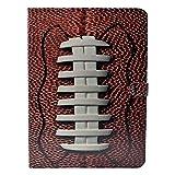 CYD Case for iPad Mini 1 2 3 , American Football Pattern Leather Flip Case Stand Cover for 7.9' iPad Mini 2, Mini 3th (2012-2014 Release)