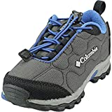 Columbia FIRECAMP SLEDDER 3 Zapatos multideporte impermeables para niños, Gris(Dark Grey, Royal), 31 EU