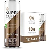 Kitu Super Coffee, Vegan Protein Coffee (0g Added Sugar, 10g Protein, 90 Calories) [Coconut Mocha] 11 Fl Oz, 12 Pack | Iced Coffee, Protein Coffee, Keto Coffee - Pea Protein, Plant Based, Gluten Free
