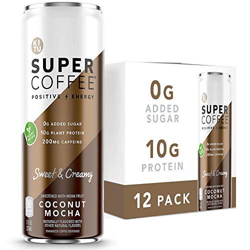 Kitu Super Coffee, Vegan Protein Coffee (0g Added Sugar, 10g Protein, 90 Calories) [Coconut Mocha] 11 Fl Oz, 12 Pack | Iced Coffee, Protein Coffee, Keto Coffee - Pea Protein, Plant Based, Gluten Free