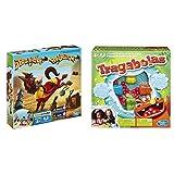 Hasbro Gaming 48380B09 Tozudo Juego de Mesa para niños de 4 años y más + Tragabolas (98936B09)