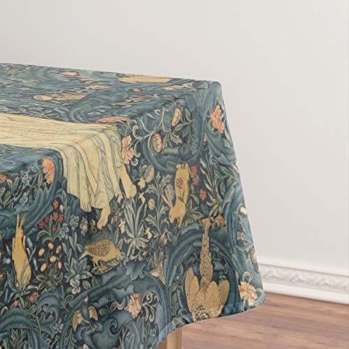 Tovaglia vintage Flora Morris Edward Burne-Jones a prova di fuoriuscita, tovaglia per tavolo da pranzo, 144,8 x 274,3 cm