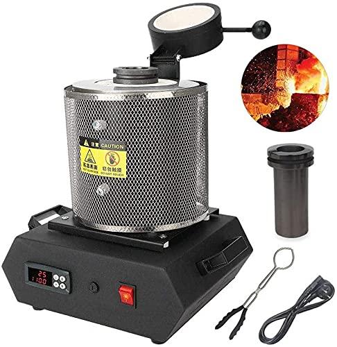 wsbdking Máquina de fusión Digital de Oro Máquina de fusión automática Horno de fundición de Horno refino para chatarra de fusión de Plata de Lata de Oro, 3 kg (Color : 3KG)