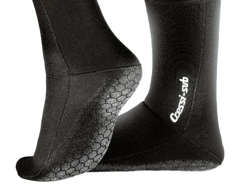 Cressi - Metallite Socks 5 mm, Color Negro, Talla EU 43-45